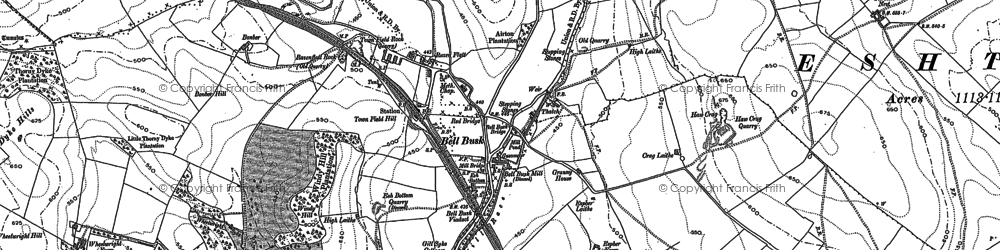 Old map of Lingber Hill in 1907