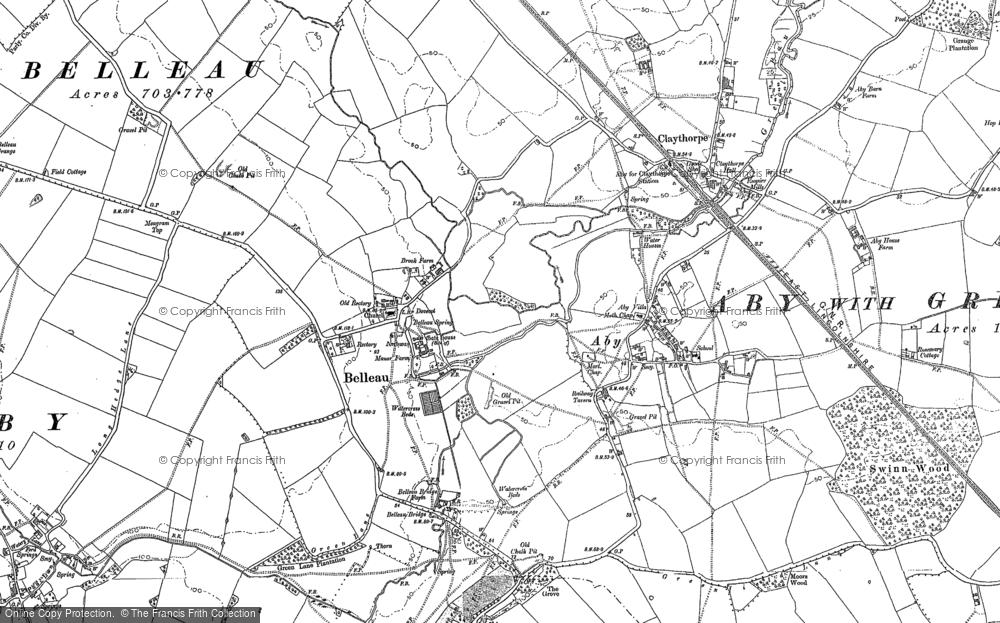Old Map of Belleau, 1887 - 1888 in 1887