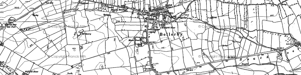 Old map of Bellerby in 1891