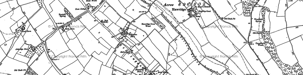 Old map of Bellingdon in 1897