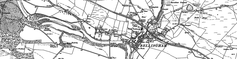 Old map of Bellingham in 1895