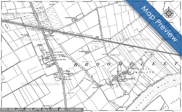 Historic map of Broomhill