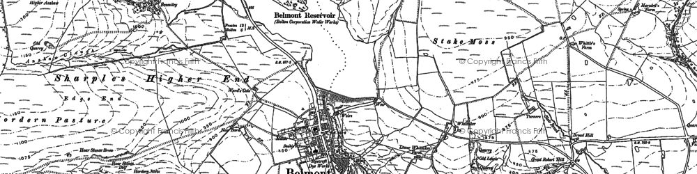 Old map of Winter Hill in 1892