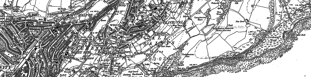 Old map of Belmont in 1908