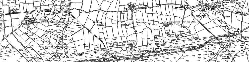 Old map of Demelza in 1880