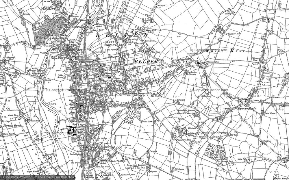 Map of Belper, 1879 - 1880