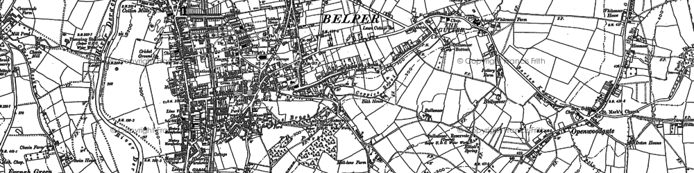 Old map of Belper in 1879