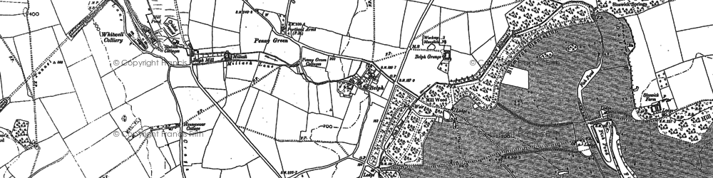 Old map of Belph in 1884