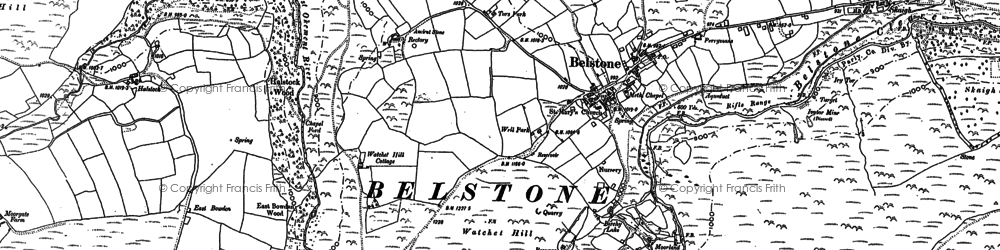 Old map of Winter Tor in 1884
