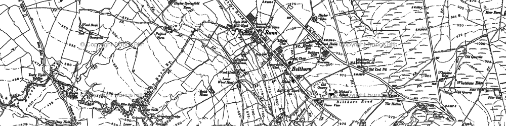 Old map of Bank Fold in 1891