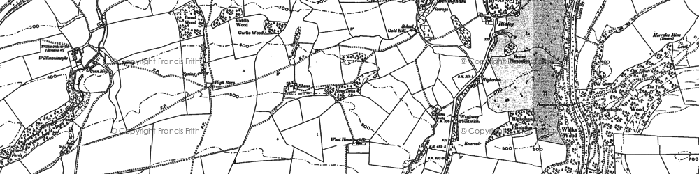 Old map of Wool Ho in 1895