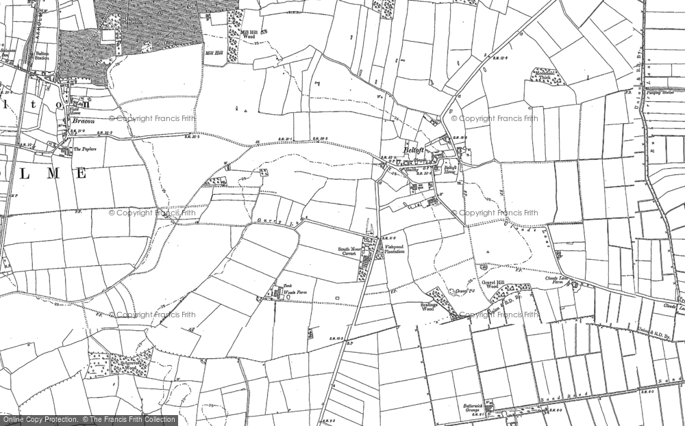 Old Map of Beltoft, 1885 - 1905 in 1885