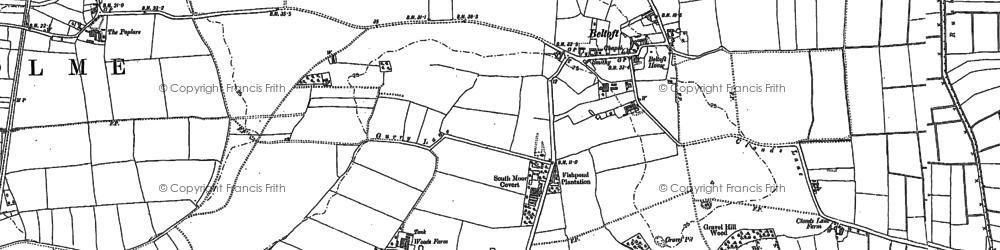 Old map of Beltoft in 1885