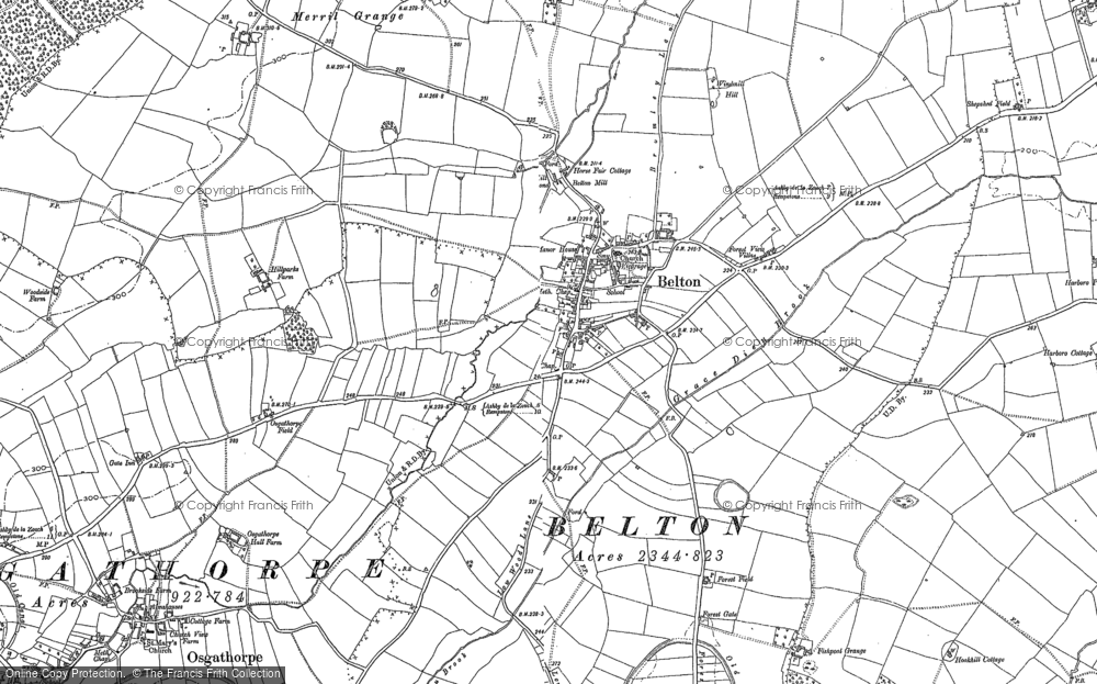 Old Map of Belton, 1883 - 1901 in 1883