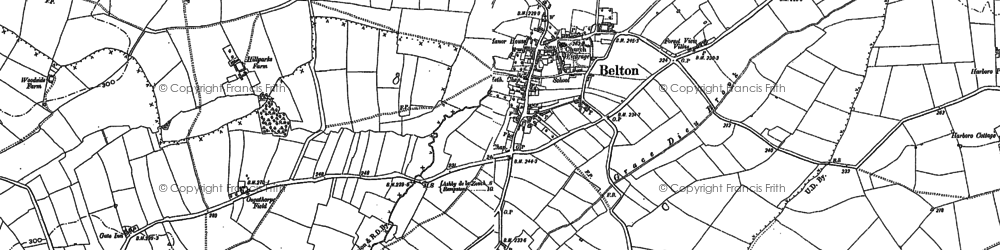 Old map of Belton in 1883