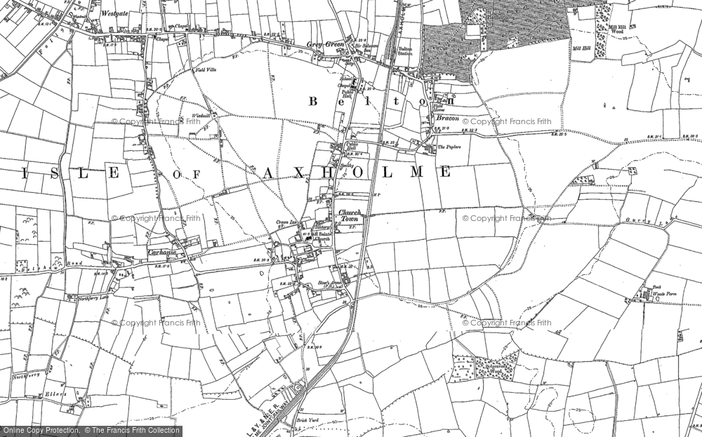 Old Map of Belton, 1885 - 1905 in 1885