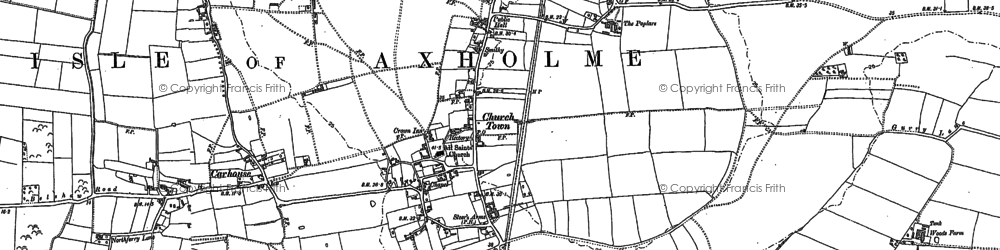 Old map of Belton in 1885