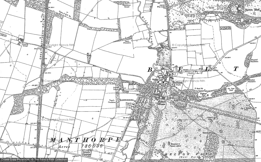 Old Map of Belton, 1887 in 1887