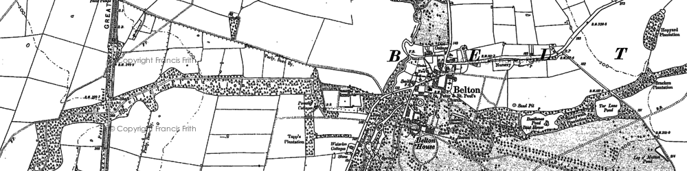 Old map of Belton in 1887