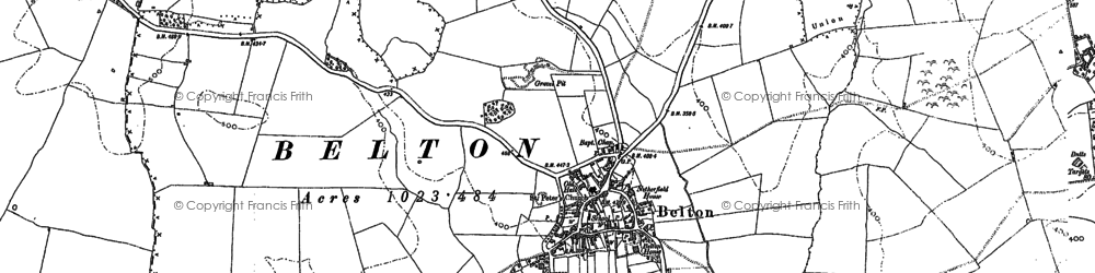 Old map of Belton-in-Rutland in 1902