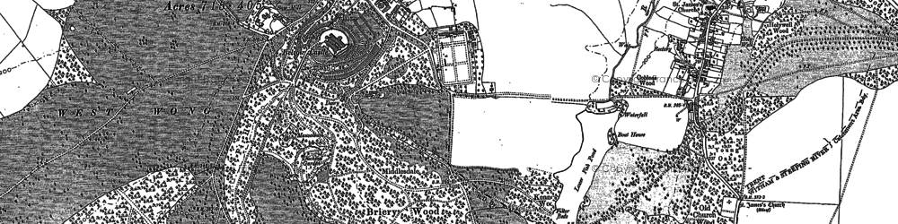 Old map of Belvoir in 1886