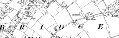 Old map of Bembridge centred on your home