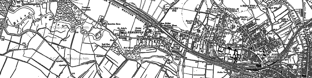 Old map of Bemerton in 1900