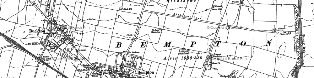 Old map of Bempton in 1909