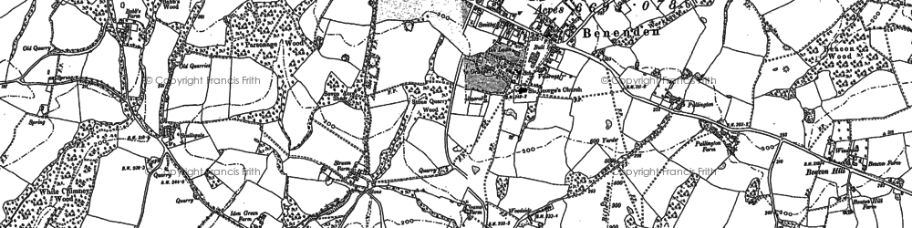 Old map of Benenden in 1896