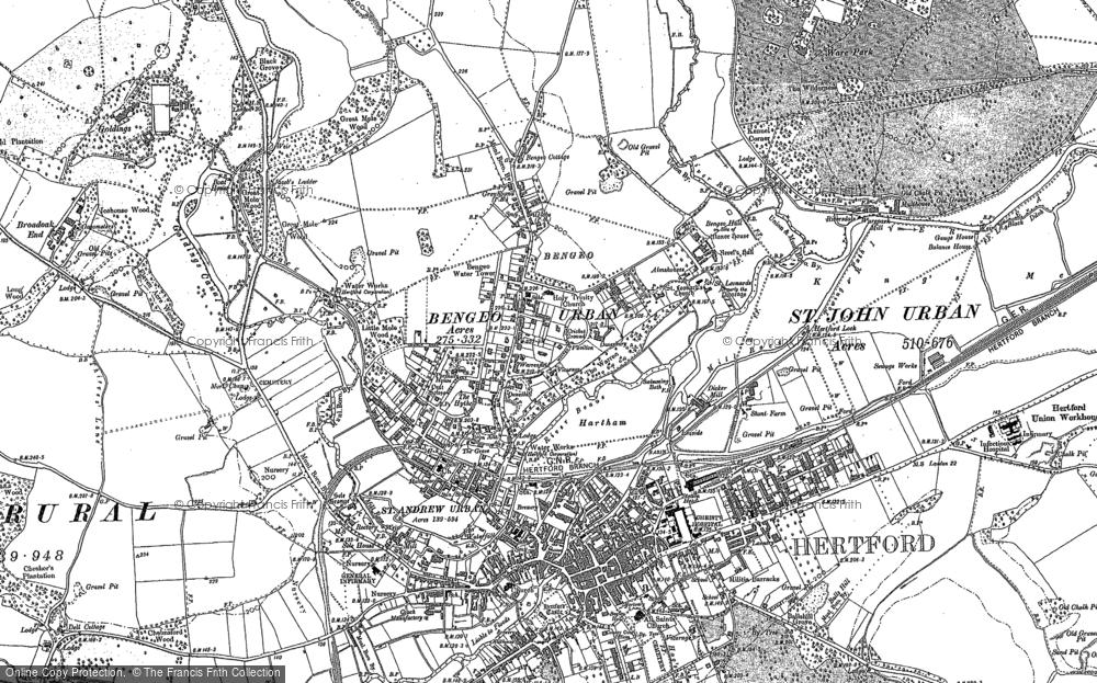 Map of Bengeo, 1897