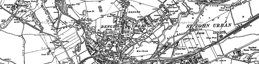 Old map of Bengeo in 1897