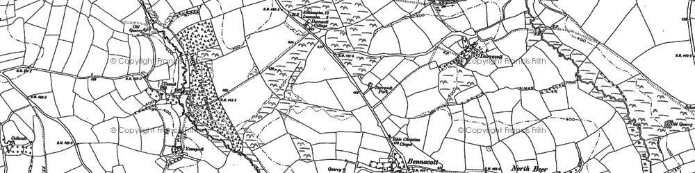 Old map of Bennacott in 1882
