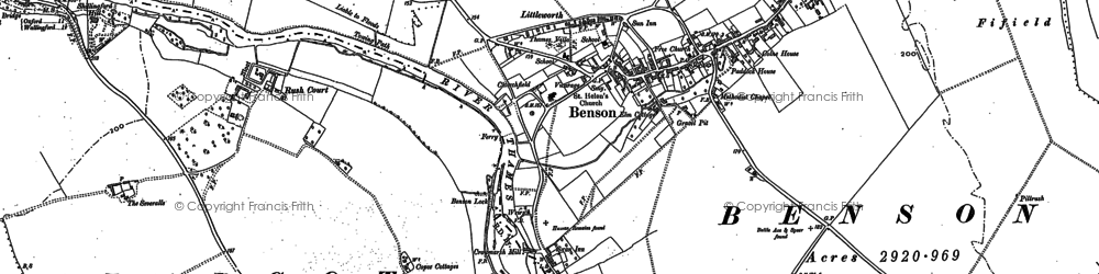 Old map of Benson in 1910