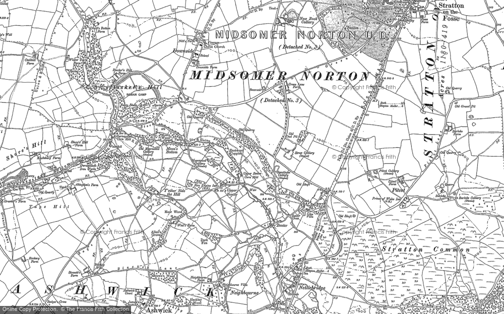 Old Map of Benter, 1884 in 1884