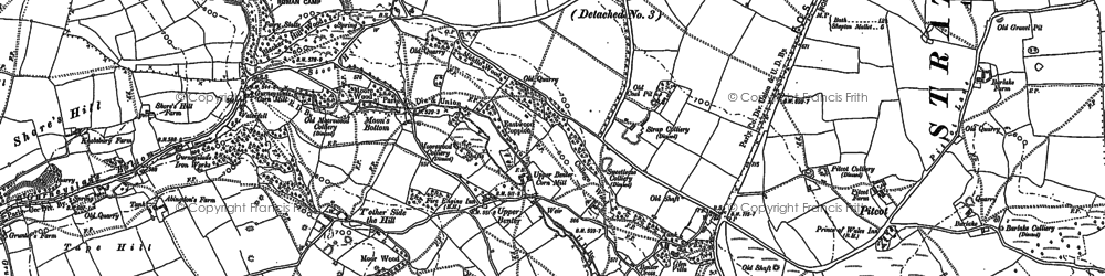 Old map of Benter in 1884