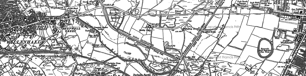 Old map of Lane Head in 1885