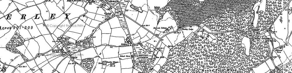 Old map of Merevale in 1901