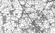 Old Map of Bentley Heath, 1886