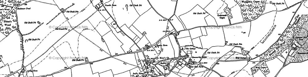 Old map of Bentworth in 1894