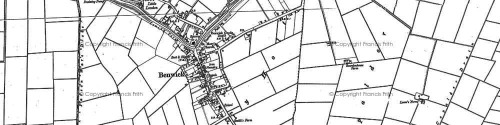 Old map of White Fen in 1886