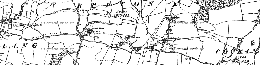 Old map of Bepton in 1896
