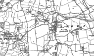 Old Map of Berden, 1896