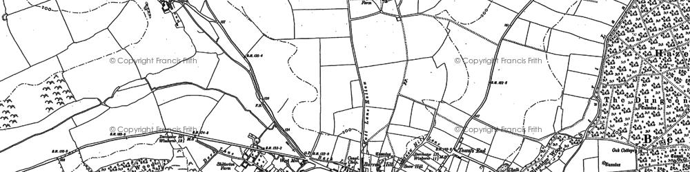 Old map of Bere Regis in 1887
