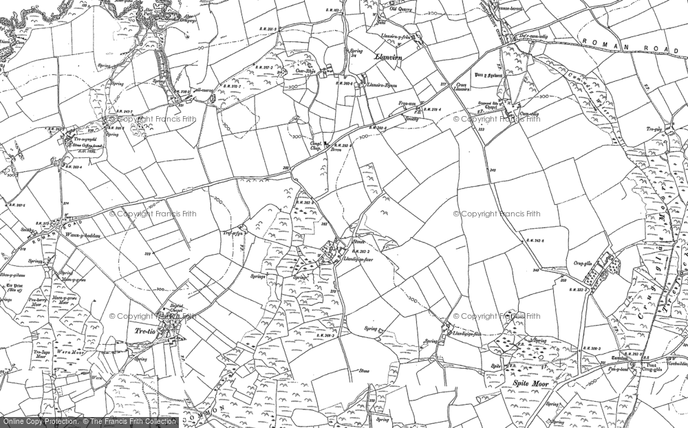 Old Map of Historic Map covering Aber-pwll in 1906