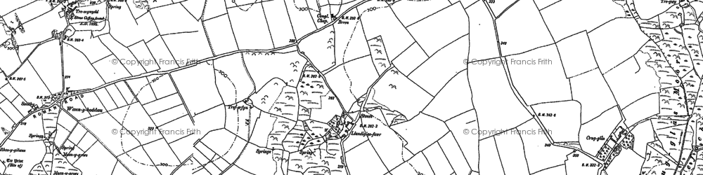 Old map of Aber-pwll in 1906