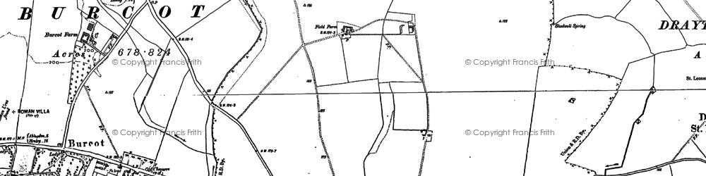 Old map of Berinsfield in 1897