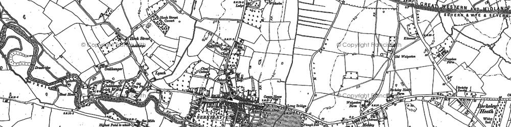 Old map of Berkeley in 1879