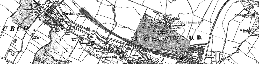 Old map of Ashlyn's Hall in 1898