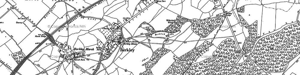 Old map of Berkley Marsh in 1902