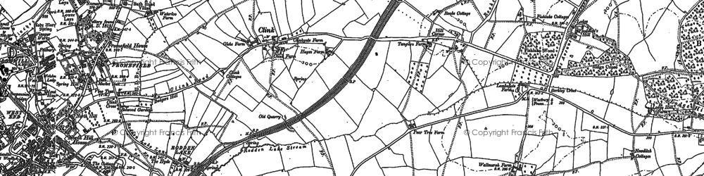 Old map of Berkley Down in 1902